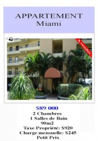 appartement à louer miami floride,annonce appartement